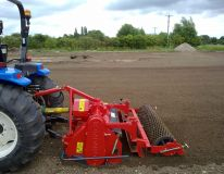 Our brand new RotaDairon RD 150 preparing the sports field area at Kirton Lindsey ready for seeding.